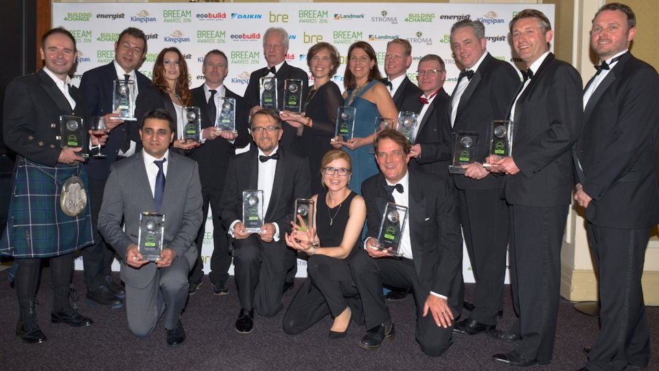Some of the winners at the BREEAM Awards 2016