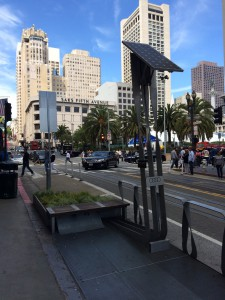 A 'parklet' near Union Square in San Francisco, location of the 2016 International Conference on Urban Health.