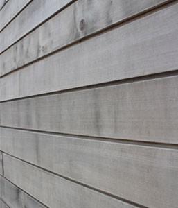 Weathered Brimstone Sycamore Cladding Courtesy Vastern Timber