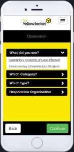 YellowJacket Mobile Health and Safety Reporting App