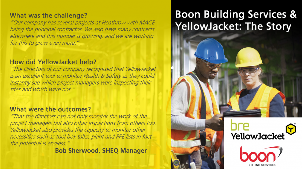 Boon Building Services and YellowJacket