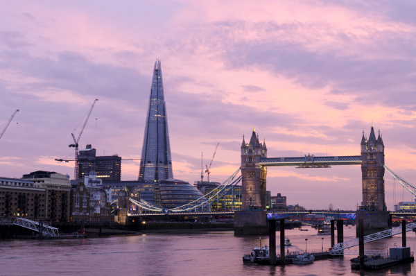 Shard against a pink sky