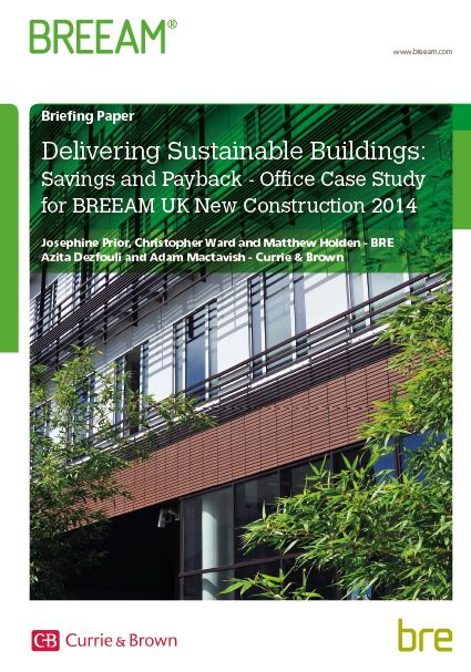 Delivering Sustainable Buildings - a Review of the Cost Implications