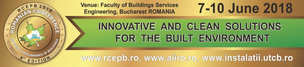 The Romanian Energy Performance of Buildings Conference (RCEPB)
