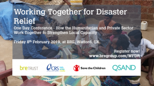 Research and Development in Disaster Response – A focus of the Working Together for Disaster Relief Conference